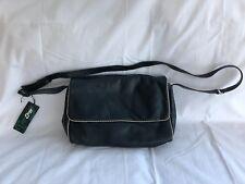 Ladies Black Leather Enny Shoulder / Cross body bag.