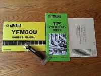 Yamaha YFM80U ATV Owners Manual with Tool & Papers Booklet Tips Excellent!book