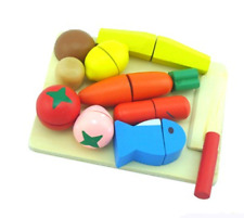Wooden Kitchen education food Cutting Fruit Vegetable Play miniature Food toys