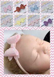 Baby Headband / Soft Nylon Headbands / Girls Hair Bow / Baby Hair Accessories