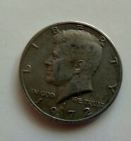 1972-D Kennedy Half Dollar Improperly Annealed Error Black Beauty.