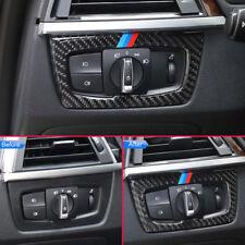 Carbon Fiber Headlight Switch Button Trims For BMW 3 4 Series F30 F31 F33 F36