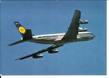 Vintage Postcard Lufthansa Boeing 707 Intercontinental Jet in Flight
