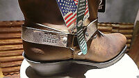 Double H Shortie Leather Women Antiqued  RareTough Boots # 5060 MADE IN USA NIB