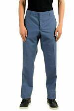 Prada Men's Wool Mohair Blue Dress Pants US 40 IT 56