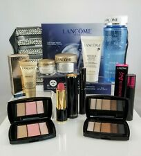 Lancome Absolue Premium Bx 11Pc Travel Set Lipstick Eyeshadow Skincare Bi-facil