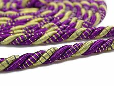 Purple Decorative Lip Cord Curtain Upholstery Trim Braided Braid Piping By 1 Yd