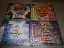 Lot 4 Jeux PS1 Jap NEUFS(boitiers cassés)Japanese PS1 New games Set(box damaged)