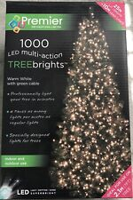 Premier 1000 LED multi-action Christmas fairy tree lights. Warm white. BNIB