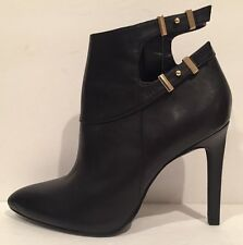 Guess Thora-M Fashion Ankle Boots Leather Pointy Toe Heel Black 10 M Worn Once