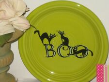 FIESTA Trio of Boo Cats Appetizer Plate New w/ Tag Lemongrass