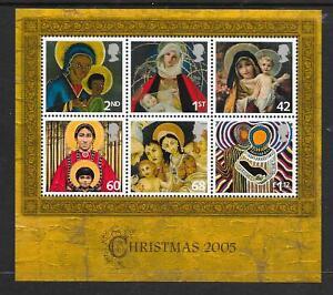 "MINIATURE SHEET MS2588 ""CHRISTMAS 2005""  MNH UM  FREE POST"