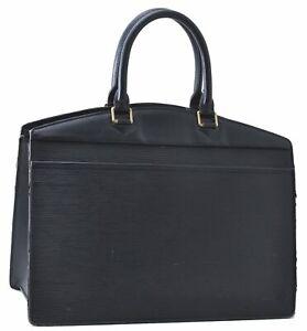 Authentic Louis Vuitton Epi Riviera Black Hand Bag M48182 LV C6065