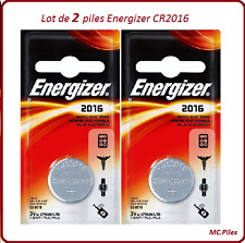 Set de 2 pilas de botón CR2016 litio Energizer