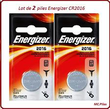 Lot de 2 piles boutons CR2016 lithium Energizer, livraison rapide et gratuite