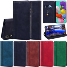 Matte Leather Wallet Flip Case Cover For Samsung S20 S10 A11 A41 A51 A21 A31 A50
