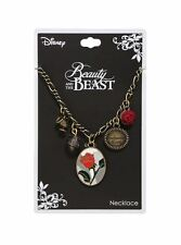 Disney Beauty And The Beast Charm Necklace Enchanted Rose Mug Chip