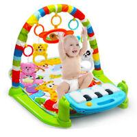 Xmas Gift Baby Gym Play Mat Musical Activity Center Kick And Play Piano Toy US
