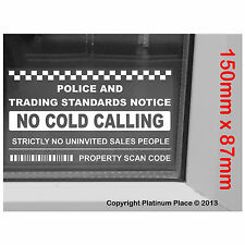 No Cold Calling,Salesman Callers Window Version-Warning House Door Sticker Sign