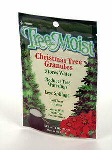 TreeMoist Watering Gel makes 1 Gallon for Cut Christmas Live Tree Hydrating Fir