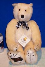 1991 GUND England CANTERBURY Plush Jointed HARVEY Limited Edition BEAR TAGS