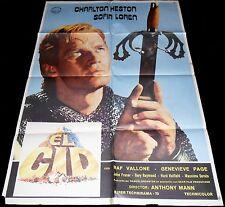 1961 El Cid ORIGINAL SPAIN FILM POSTER Charlton Heston Sophia Loren