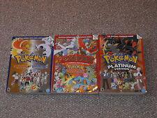 Pokemon Platinum Guide & HeartGold & SoulSilver Pokedex Johto & Kanto Book Lot