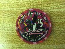 LAS VEGAS RIO CASINO 1995 HAPPY NEW YEAR $ 5.00 CHIP.