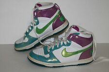 Nike Big High LE Casual Sneakers, #344578-131, Wht/Ppl/Grn/Blu,Youth US Sz 4.5Y