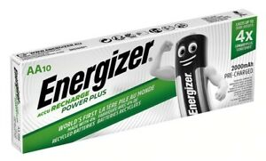 Energizer AA Recharge PowerPlus 2000MAH NiMH Pre-Charged Batteries - Pack of 10