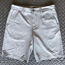 "HURLEY DRI-FIT CHINO 21"" MEN'S SHORTS SIZE 32 $60 NEW HEATHER GREY"