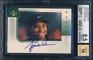 2001 Upper Deck Players Ink Auto Tiger Woods Rookie RC BGS 8.5 10