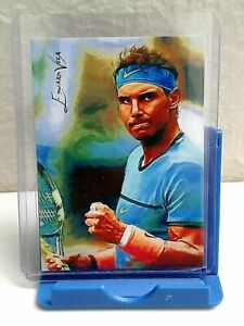 JU13 Rafael Nadal #2 - ACEO Art Sketch Card Signed by Artist 42/50