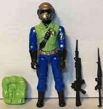 Black Major Cobra GI Joe CUSTOM Steel Brigade Figure gold Head W Extra Chest
