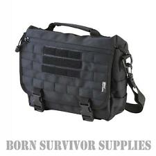 TACTICAL MOLLE SHOULDER BAG - BLACK - 10ltr Small Messenger Satchel Grab Range