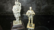 ROYAL HAMPSHIRE PEWTER FIGURES X2 UNKNOWN SOLDIERS READ MORE 12CM