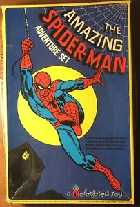 Amazing Spiderman Colorforms Adventure Set (1974) Marvel Comics