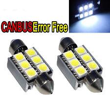 2PC Fit VW GOLF MK4 MK5 CADDY Xenon White LED Number Plate Bulbs ERROR FREE