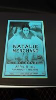 Genuine 1999 NATALIE MERCHANT Live In Concert Paramount Theatre Poster Flyer Ad