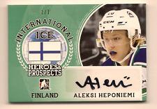 ALEKSI HEPONIEMI 2016-17 LEAF ITG HEROES & PROSPECTS INTERNATIONAL ICE AUTO /7