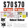 Bobcat S70 Skid Steer Set Vinyl Decal Sticker - 25 PC