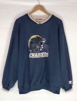 Vintage Starter San Diego Chargers Pullover Sweater Mens Size XL Blue NFL
