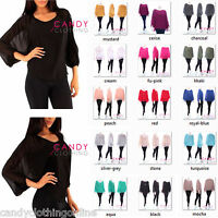 Ladies Women Stretch Baggy Batwing Chiffon Top Vest Bikini Long Tunic Blouse she