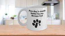 Birman Cat Mug Coffee Tea Paw Print Cat Lover Furbaby Cat Mom Cat Dad