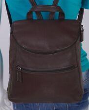 TIGNANELLO Medium Brown Leather Backpack Shoulder Hobo Tote Satchel Purse Bag