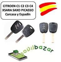 LLAVE CARCASA CITROEN C1 C2 C3 C4 XSARA SAXO PICASSO MANDO DOS BOTONES. ESPAÑA