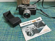 "Yashica Electro 35 GSN 35mm Film Rangefinder ""Spiderman"" Camera CASE &  BOOKLET"