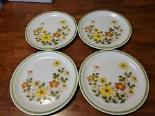 Vintage Spring Collection Stoneware Spring Garland 10.5 inches set of 4 plates