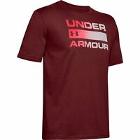 Under Armour Team Issue Wordmark Herren Graphic T-Shirt UA 1329582 615 Rot
