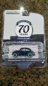 Greenlight Green Machine 1949 Volkswagen Type 1 Split Window Beetle Chase 70 Yrs